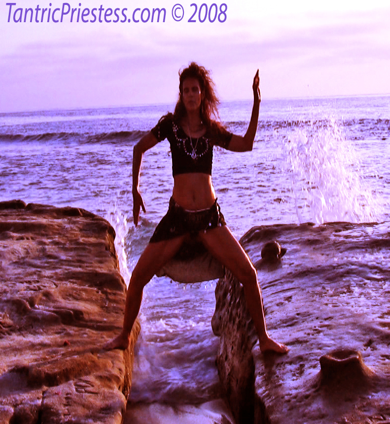 Tantric rituals with the elements: water, sunsent, moonrise and tides